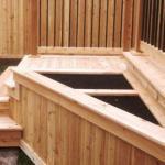 Colocação de deck de madeira
